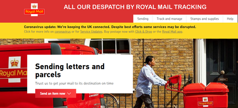 Roya Mail first class tracking despatch
