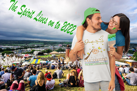 The Spirit Lives on to 2022. Glastonbury Festival T Shirt from GAS