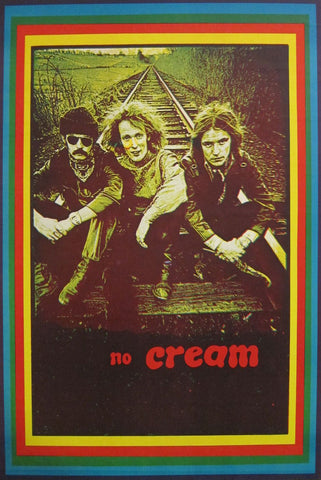 One of Creams farewell posters 1968. This one is pretty unusal. Big O posters published it and it is in V&A`s collection. Mint condition . Unusual colorscheme. A lovely example of Martin Sharp`s excellence in creating art before photoshop.