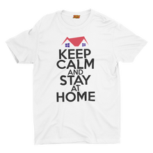 Load image into Gallery viewer, GAS retro T Shirt design, 'Keep Calm and Stay at Home'  C19-02