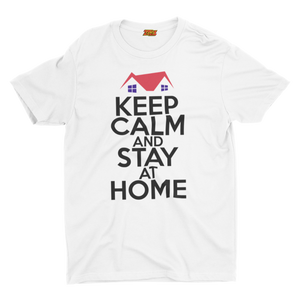 GAS retro T Shirt design, 'Keep Calm and Stay at Home'  C19-02