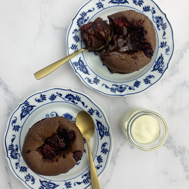 Chocolate & Raspberry Fondants