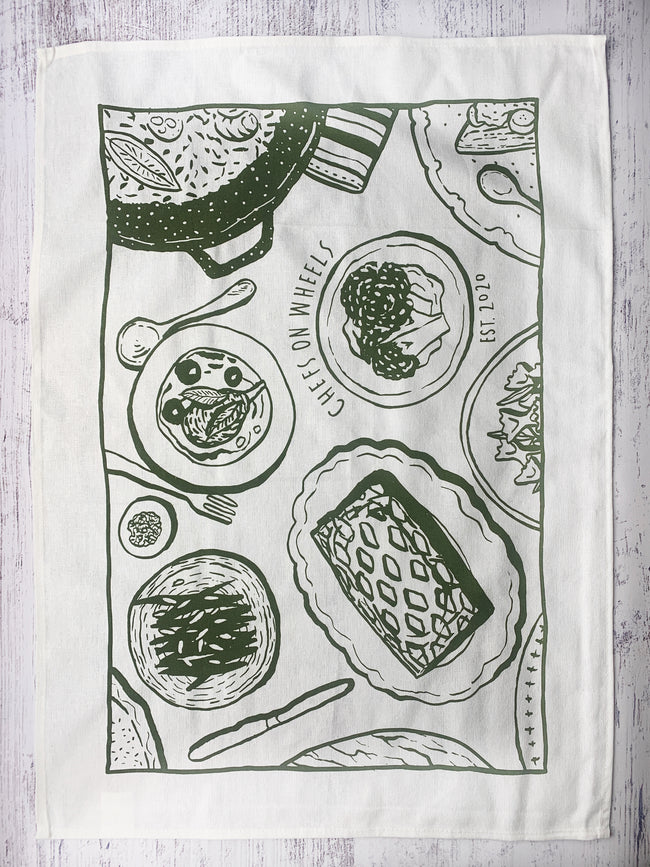 Chefs on Wheels Linen Tea Towel