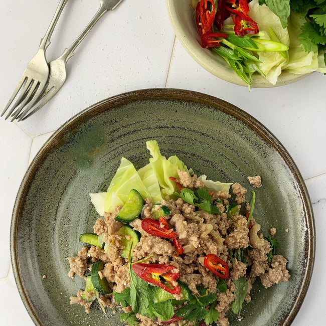 Thai Pork Larb Salad w/ Pickled Sugarloaf Cabbage