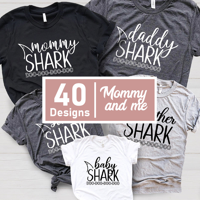 Mommy and me SVG bundle 40 designs