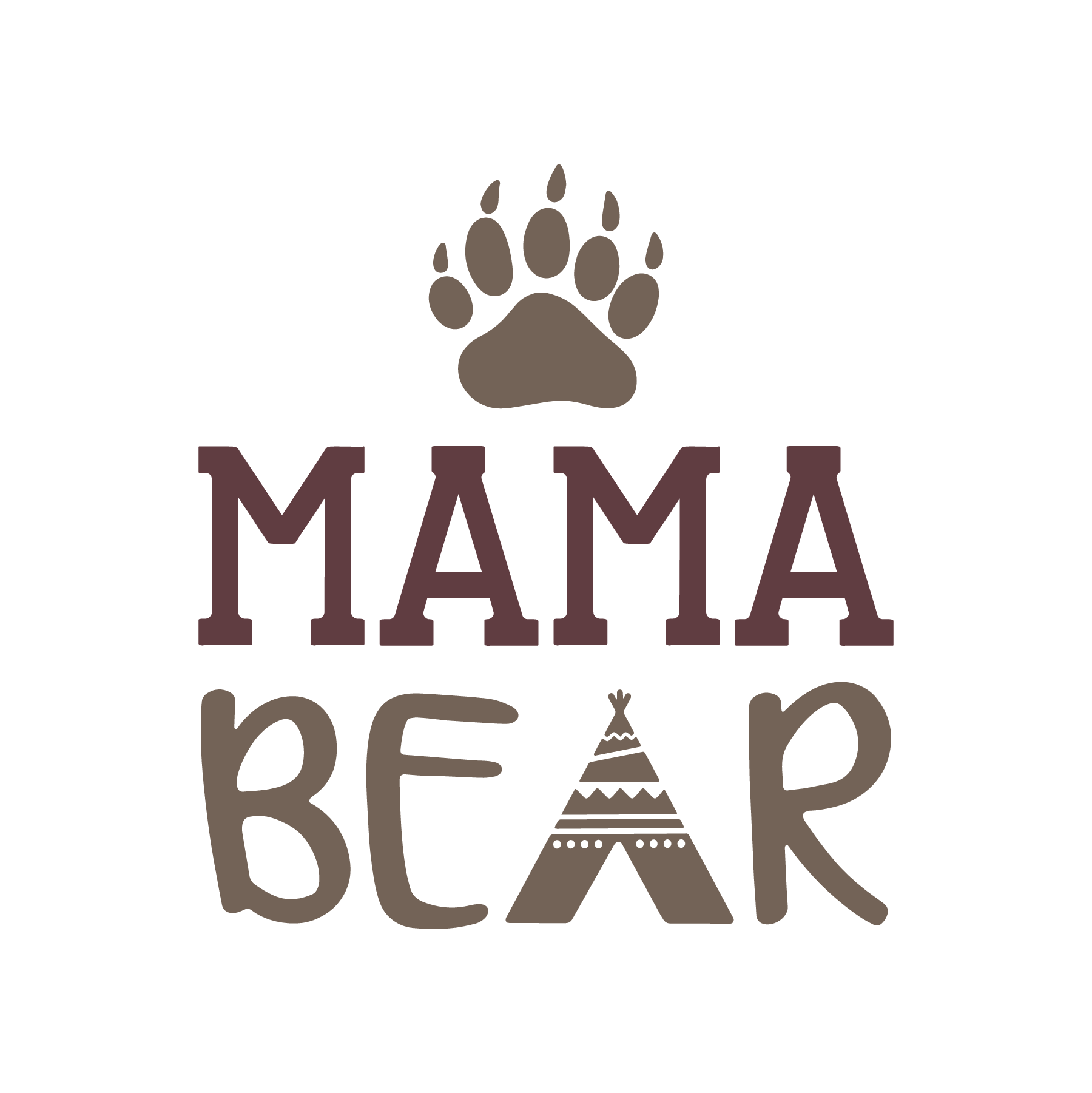 Mama Bear SVG Cut File
