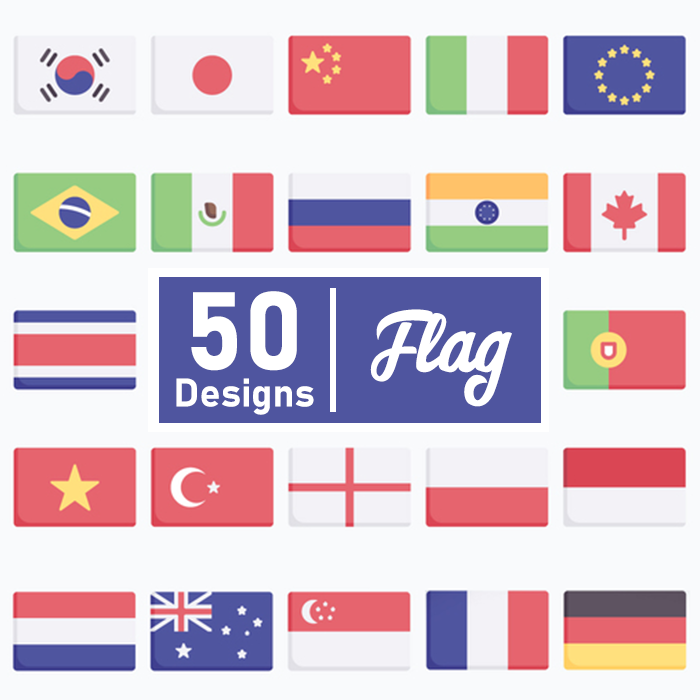 50 Flag Icons SVG