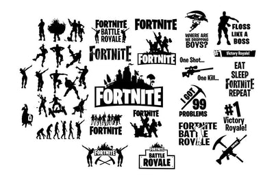 Fornite Digital Cut DXF SVG EPS png