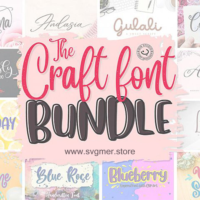 Font Bundle DIGITAL CUT DXF SVG EPS PNG
