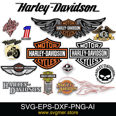 harley davidson bundle DIGITAL CUT DXF SVG EPS PNG