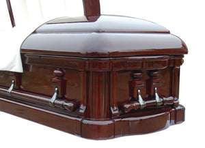 Royal Grace Custom - Solid Mahogany Casket - Lone Star Caskets
