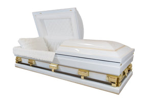 Oversized White - 18 Gauge Casket - Lone Star Caskets