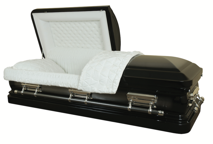 Ebony Elite - 18 Gauge Casket - Lone Star Caskets