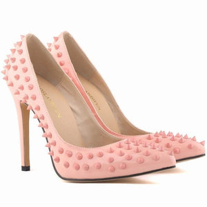 Leather Lady Rivets Shoes