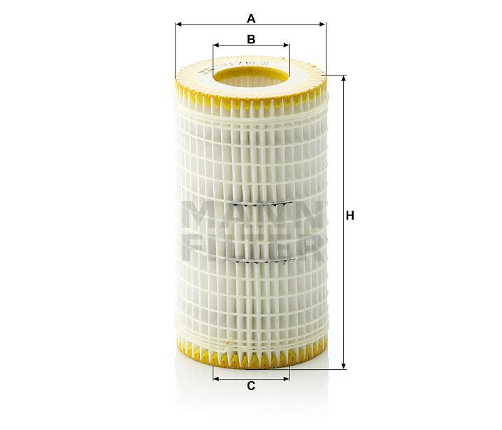 Genuine Mann Mercedes-Benz Oil Filter and Seal Kit x10