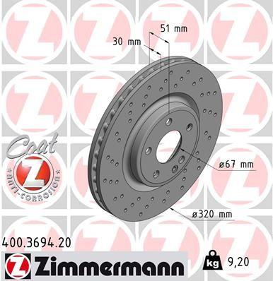 Mercedes-Benz AMG Brake Disc Rotor Set Front