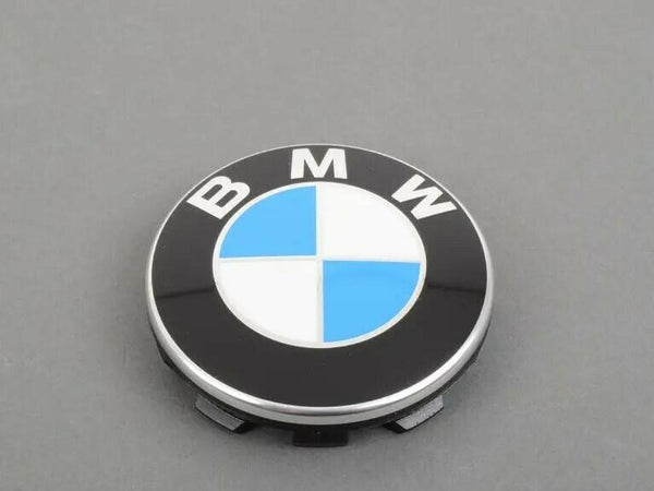Genuine BMW Centre Hub Cap Chrome Ring Set of 4