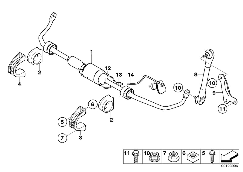 Genuine BMW Sway Bar Front Active Stabiliser Dynamic Drive