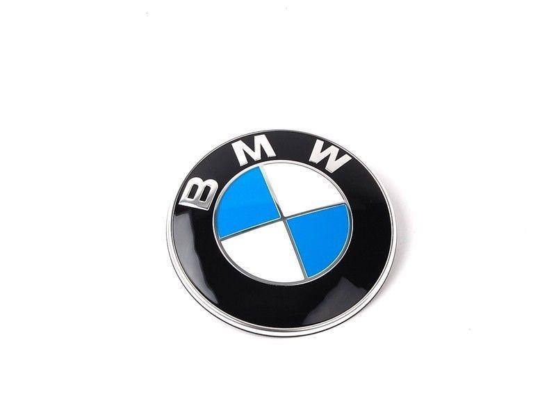 Genuine BMW Bonnet Boot Emblem + Grommet Set