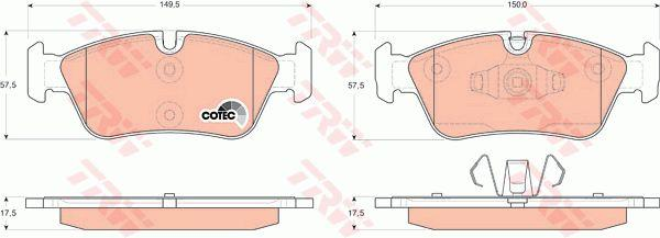 Genuine TRW BMW Brake Pad Set Front