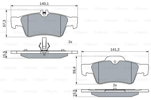 Genuine Bosch Mercedes-Benz Brake Pad Set Rear