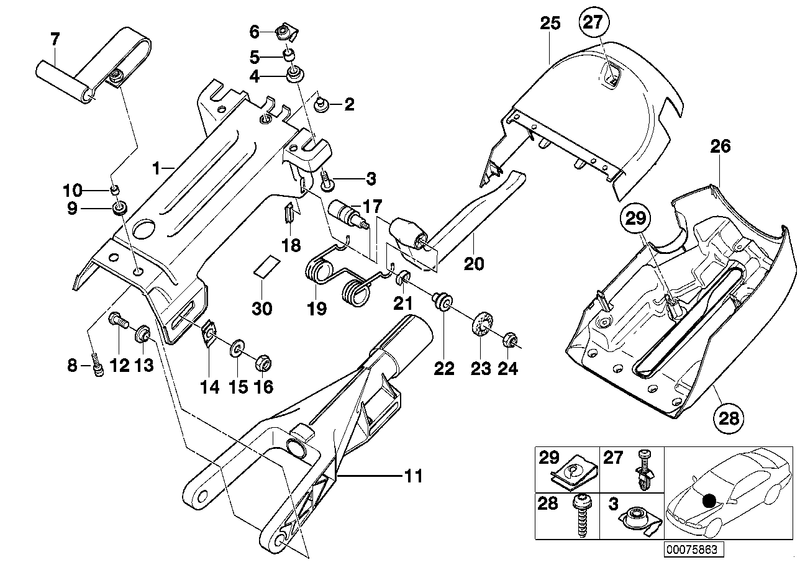 Genuine BMW Supporting Bracket