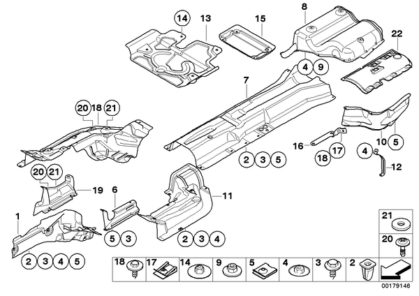 Genuine BMW Heat Insulation Engine Support
