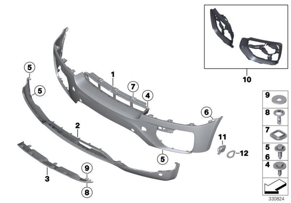 Genuine BMW Front Bumper Trim X6 E71