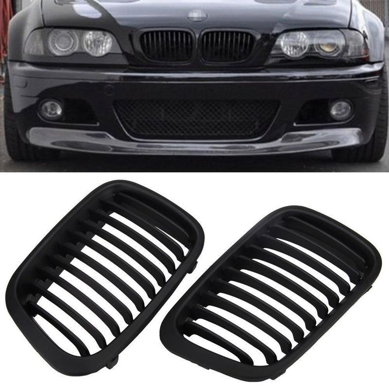 BMW Kidney Radiator Grille Set Left and Right Matt Black