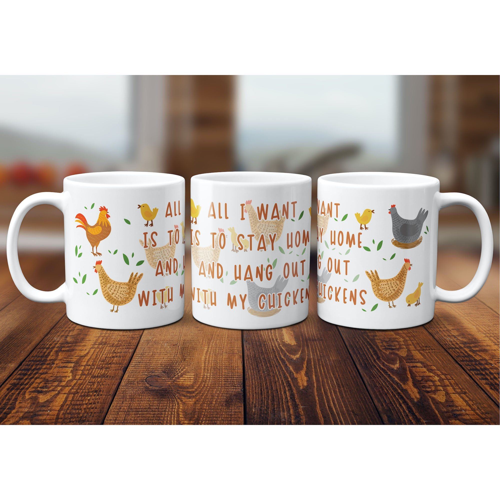 Funny Chicken Mug, Chicken Lover Gift, Cute Chicken Graphic, Crazy Chicken Lady, Coffee Mug