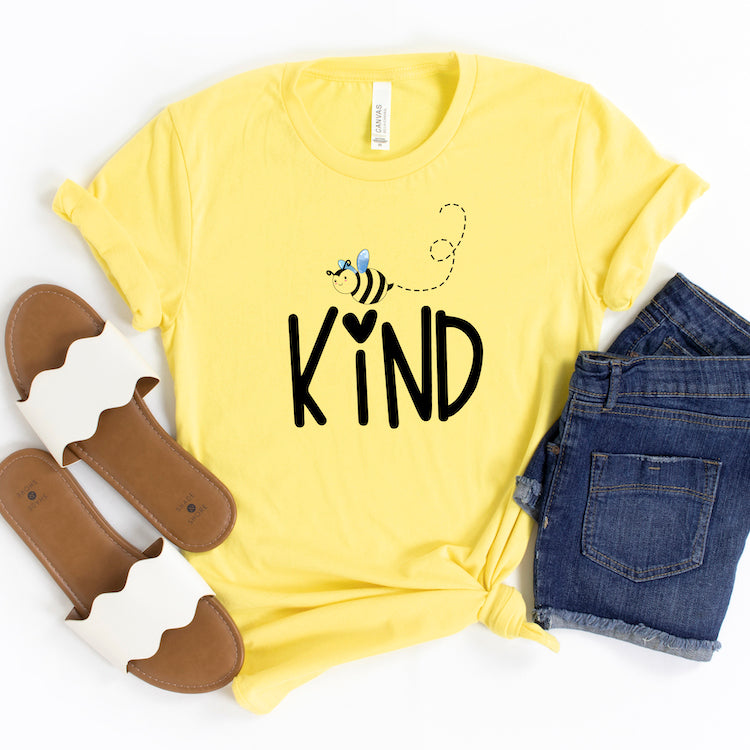 Be Kind Shirt, Bee Kind T Shirt For Women And Men, Honey Bee Keeper Shirt, Funny Bee Shirt, Bee Lover Gift, Cute Bee Graphic, Be Nice Happy