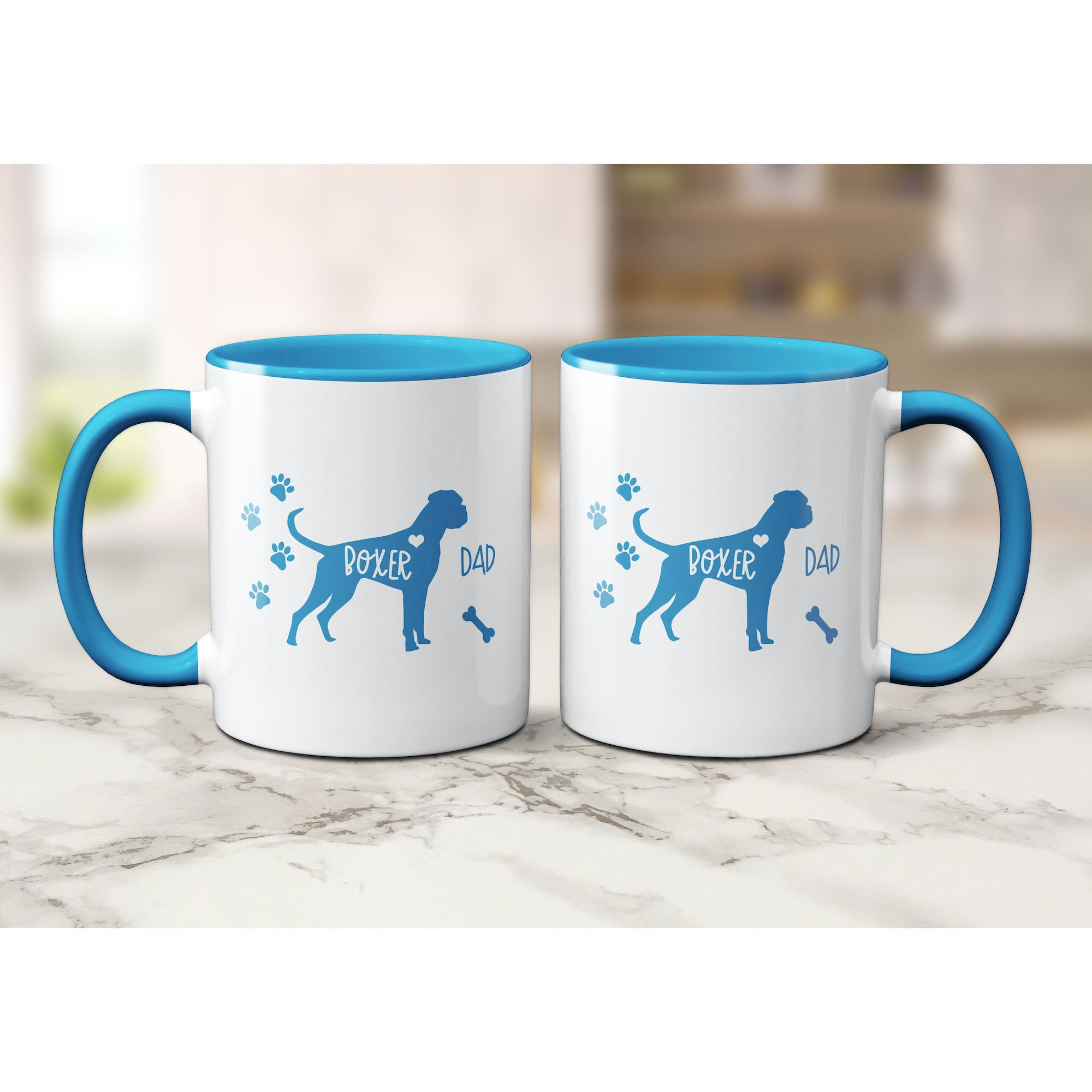 Funny Boxer Mug, Boxer Dad, Boxer Lover Gift, Cute Boxer Graphic, Coffee Mug