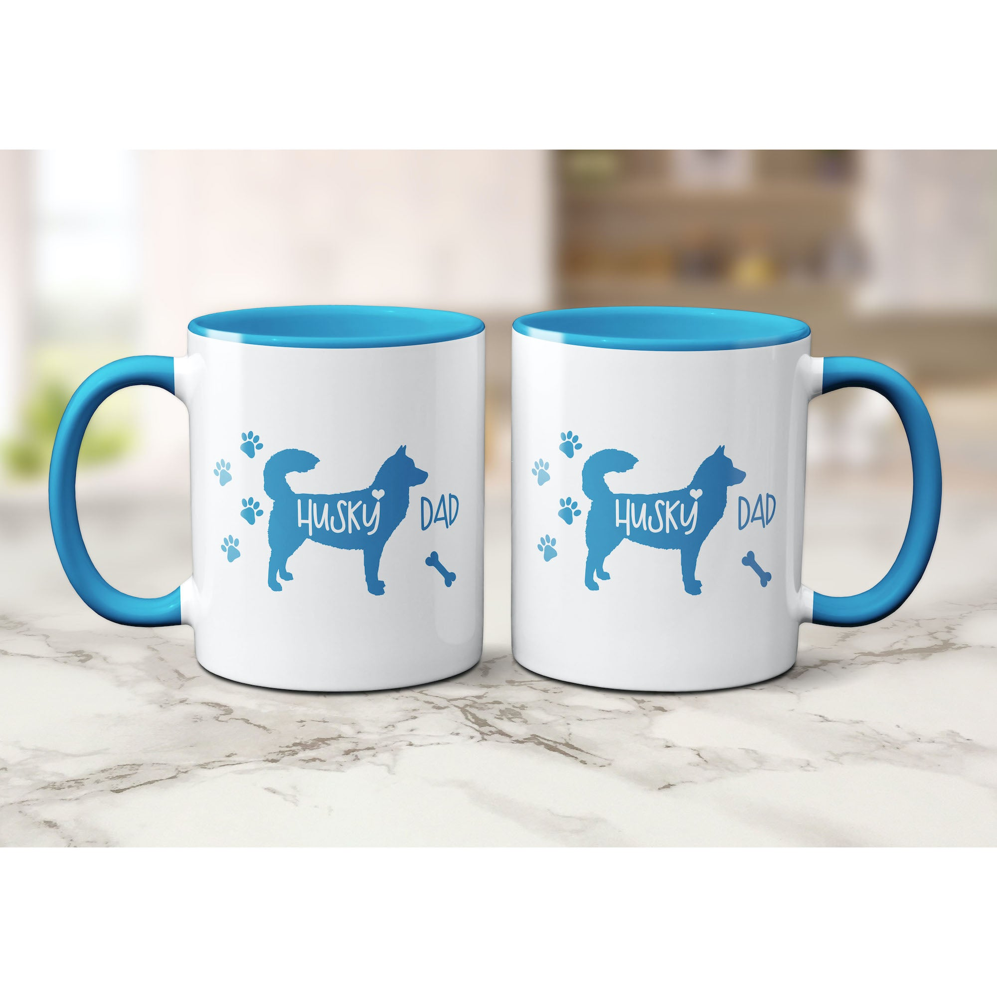 Funny Husky Mug, Husky Dad, Husky Lover Gift, Cute Husky Graphic, Coffee Mug