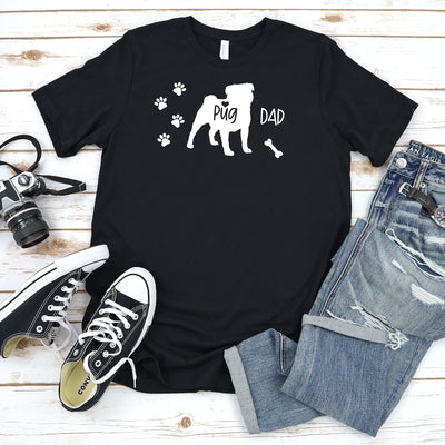Funny Pug Shirt, Pug Dad, Pug Lover Gift, Pug T-shirt, Pug Top, Cute Pug Graphic Tee, Explore Now!