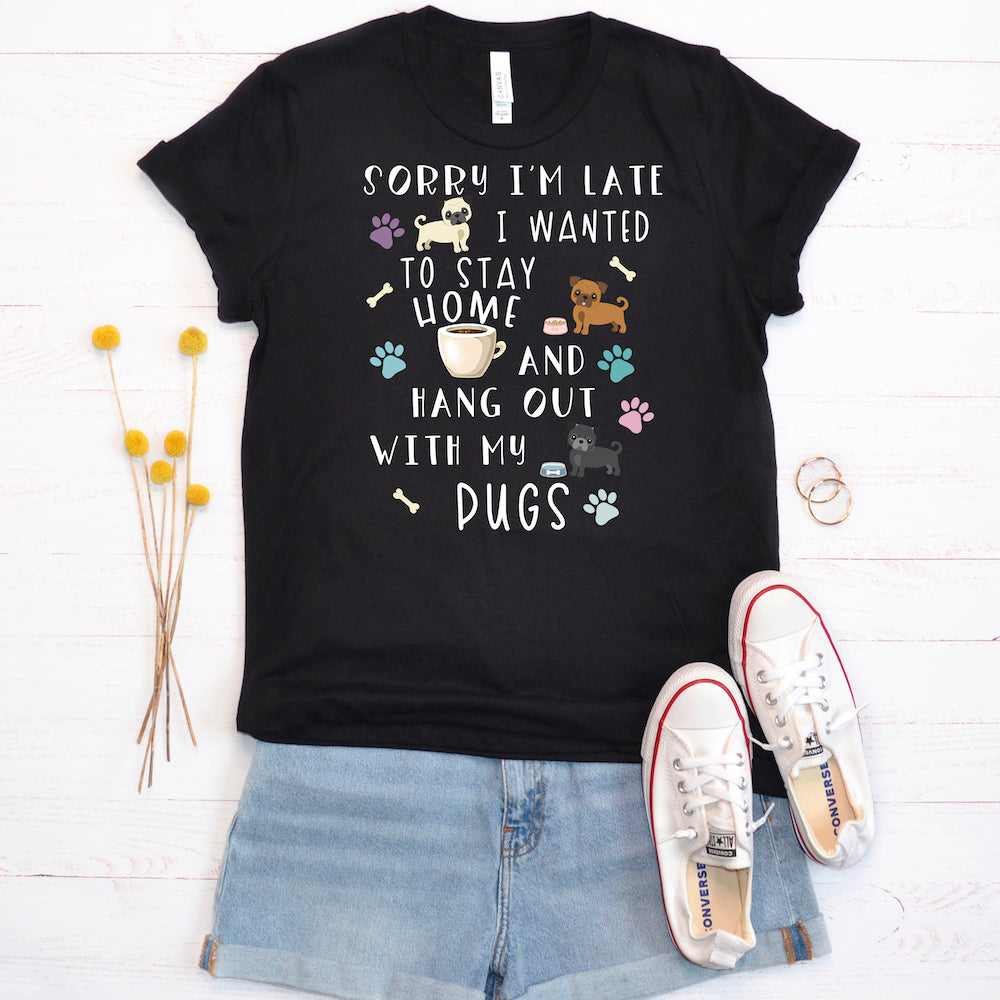 Funny Pug Shirt, Women Men, Pug Lover Gift, Pug Top, Cute Pug Graphic Tee, Crazy Pug Lady