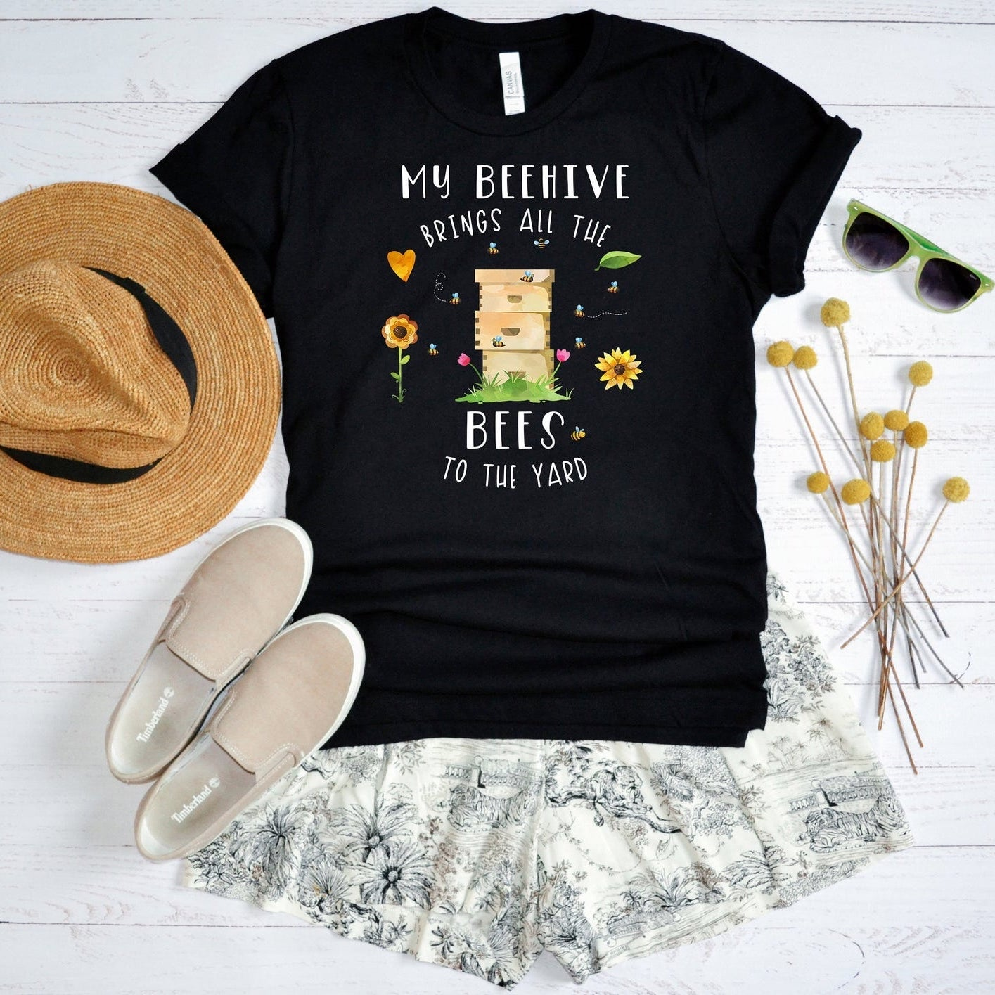 My Beehive Brings All The Bees To The Yard T-shirt, Funny Beekeeper Shirt, Beekeeping Tee, Honey Bee Lover Gift, Bee Graphic, Unisex T-Shirt