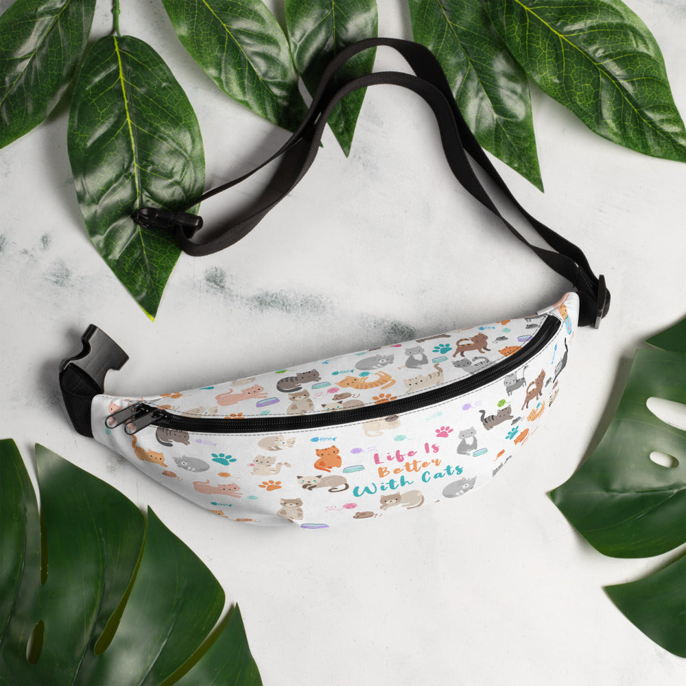 Cute Cat Fanny Pack⎜Life Is Better With Cats