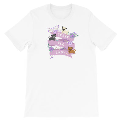 Funny Pug Shirt For Women, Pug Lover Gift, Pug T-shirt, Pug Top, Cute Pug Graphic, Crazy Pug Lady