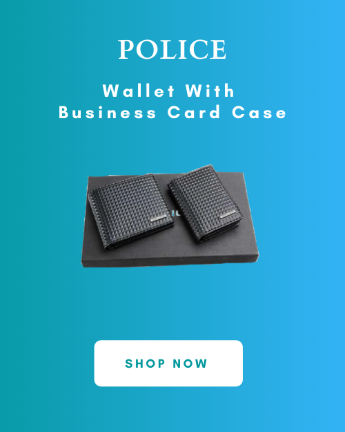 Police Wallet With Business Card Case