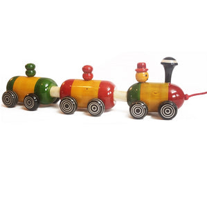 Buy Aatike Colorful Wooden Train Channapatna Toy - Concept - GiftWaley.com