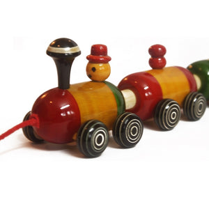 Buy Aatike Colorful Wooden Train Channapatna Toy Game - GiftWaley.com