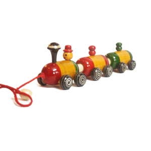 Buy Aatike Colorful Wooden Train Channapatna Toy Online on GiftWaley.com