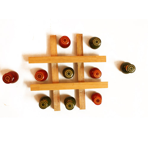 Buy Aatike Noughts & Crosses (Tic-Tac-Toe) Wooden Game online on GiftWaley.com