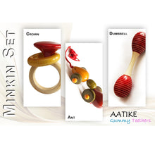 Load image into Gallery viewer, Buy Aatike Wooden Rattle, Teether & Pull-Push Toy Combo Online on GiftWaley.com
