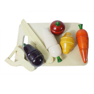 Buy Aatike Wooden Vegetables & Cutting board Channapatna Toy - Game - GiftWaley.com