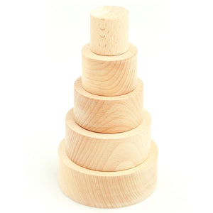 Buy Ariro Natural Wooden Nesting Bowls Toy - GiftWaley.com