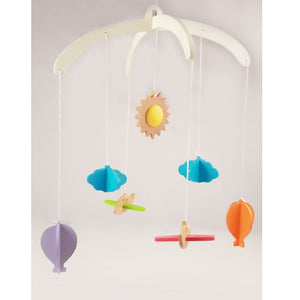 Ariro Wooden Wind Chimes Mobile Planes And Hot Air Balloon