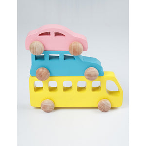 Buy Ariro Wooden Vehicle Set Push Toy - GiftWaley.com