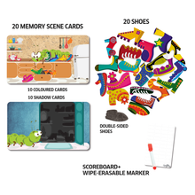 Load image into Gallery viewer, Chalk & Chuckles Caterpillar Clutter Memory Card Game
