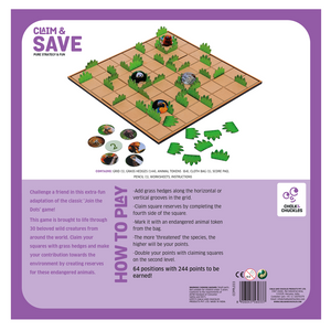 Chalk & Chuckles Claim and Save Strategy Board Game